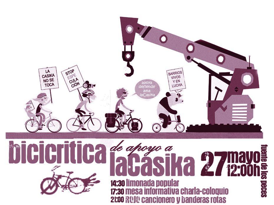 bici crítica rojo cancionero banderas rotas domingo 27 mayo plaza pradillo fuente los peces Móstoles
