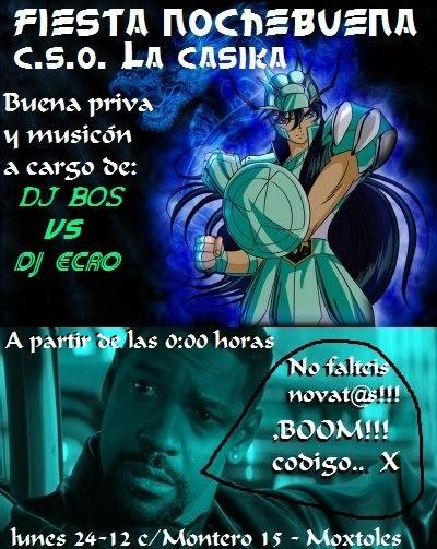 cartel fiesta nochebuena la casika 24 diciembre 2012 Móstoles