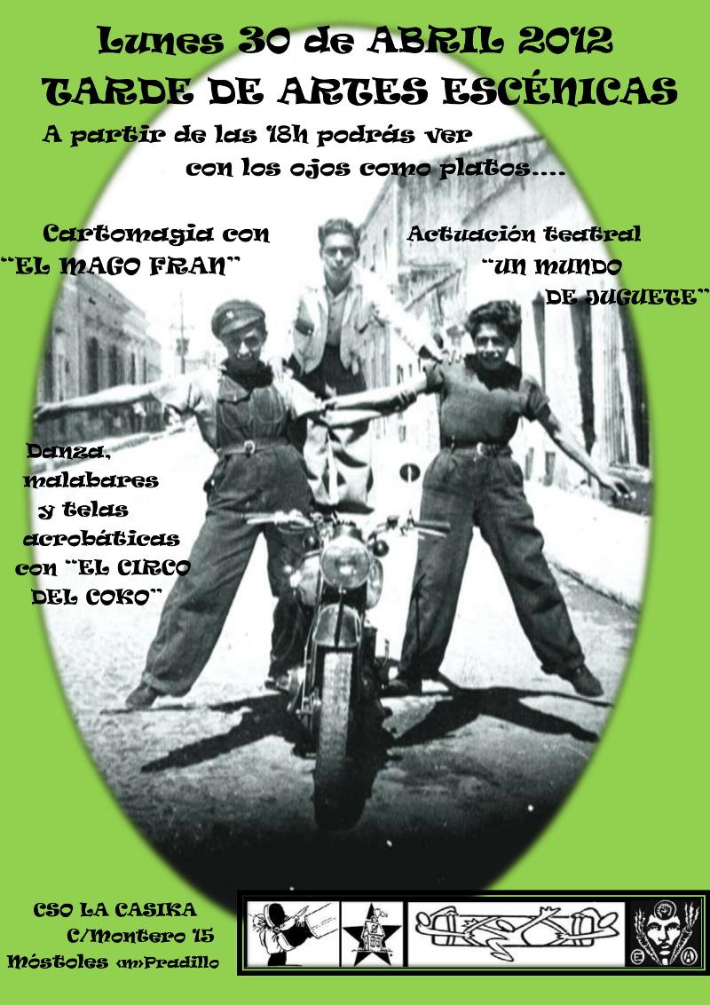 cartel dia 30 de abril del festikmaf Mostoles teatro magia circo