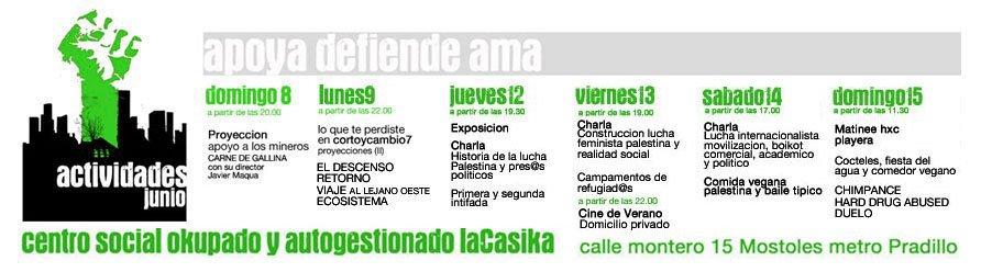 actividades semana del 9 al 15 de julio La Casika Móstoles