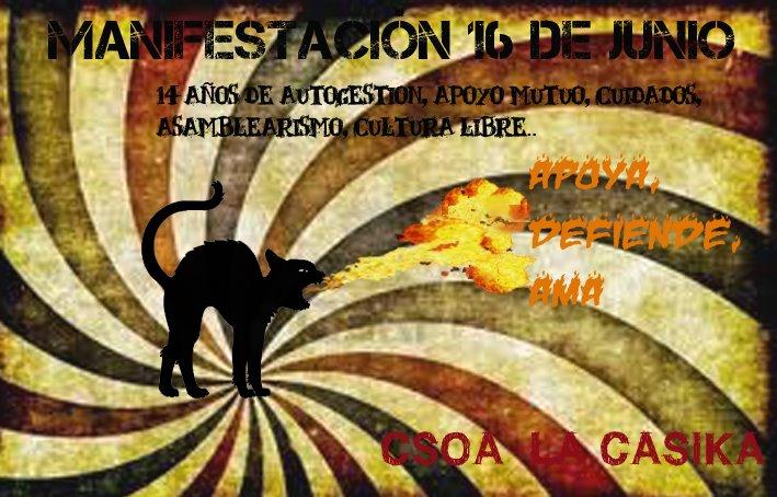 manifestacion okupacion defensa cso la casika 16 junio 2012 Móstoles