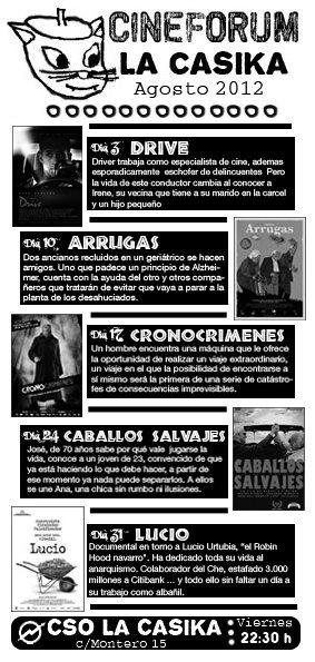 cineforum viernes agosto Mostoles la casika
