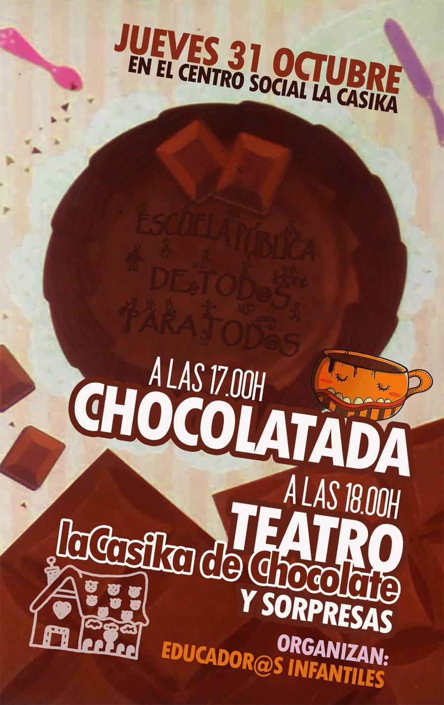 Chocolatada y teatro: La Casika de Chocolate - jueves 31 a partir de las 17h en laCasika Mostoles
