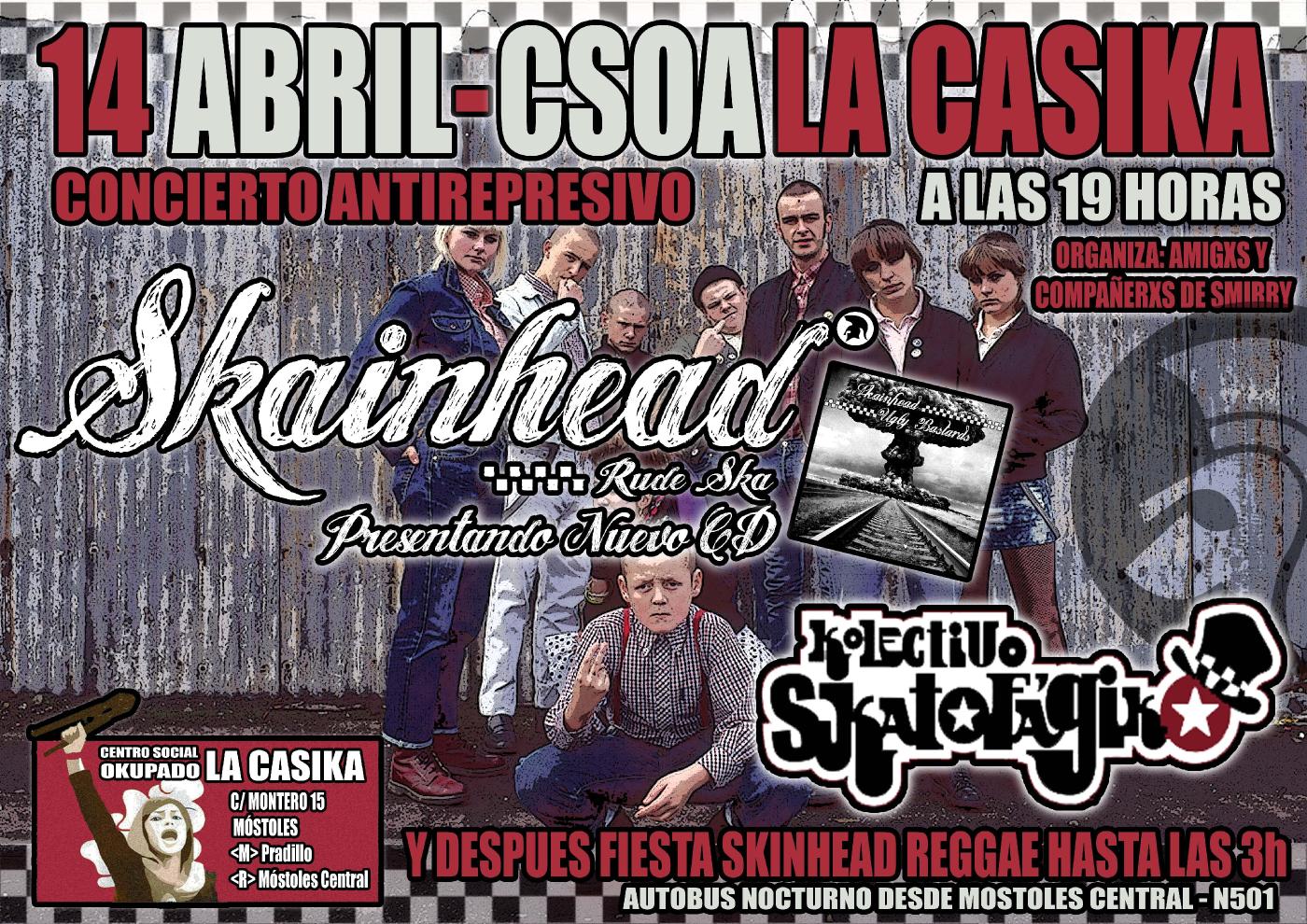 concierto antirrepresivo skainhead kolectivo skatofagiko