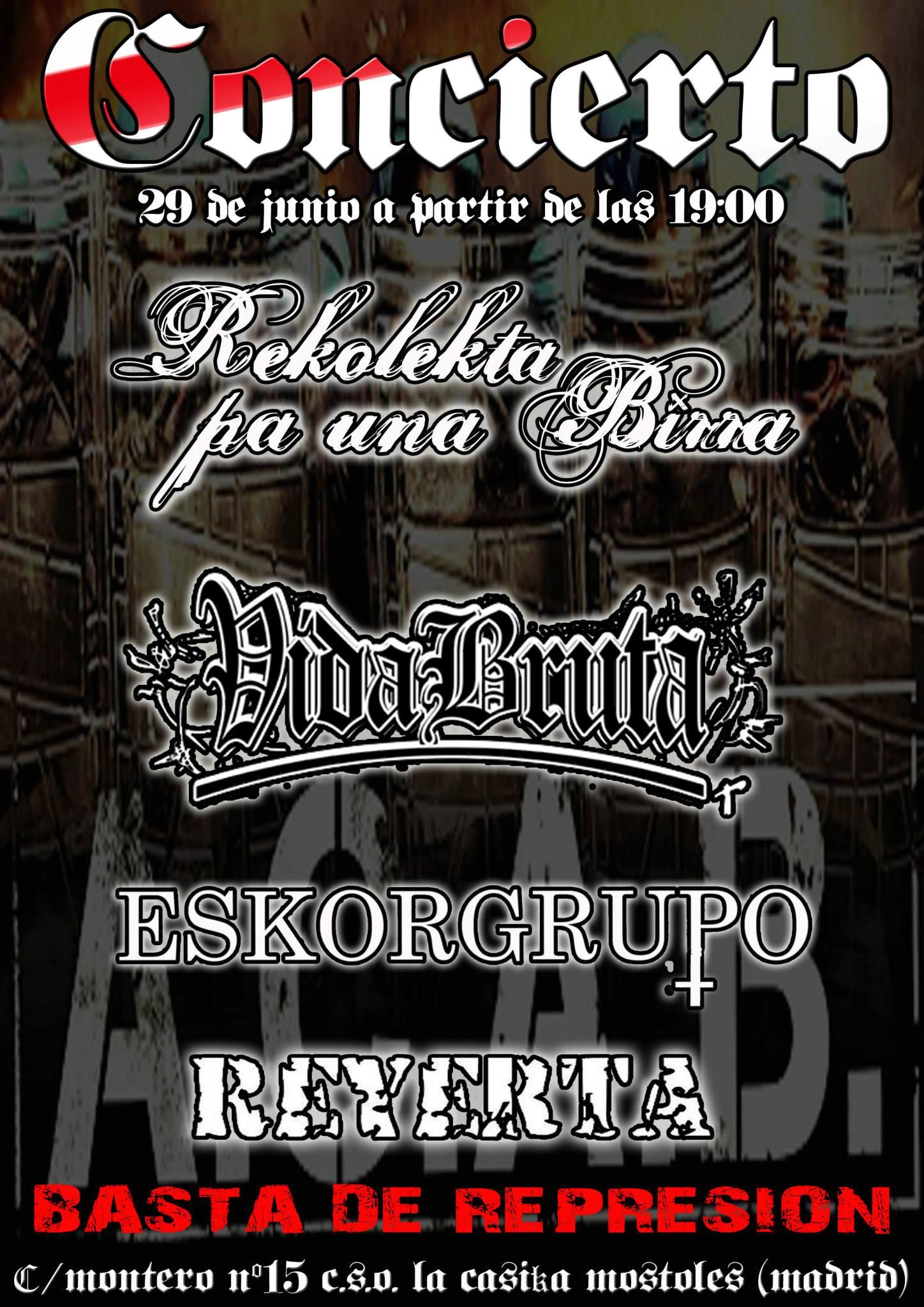 concierto punk sabado 29 junio la Casika Móstoles