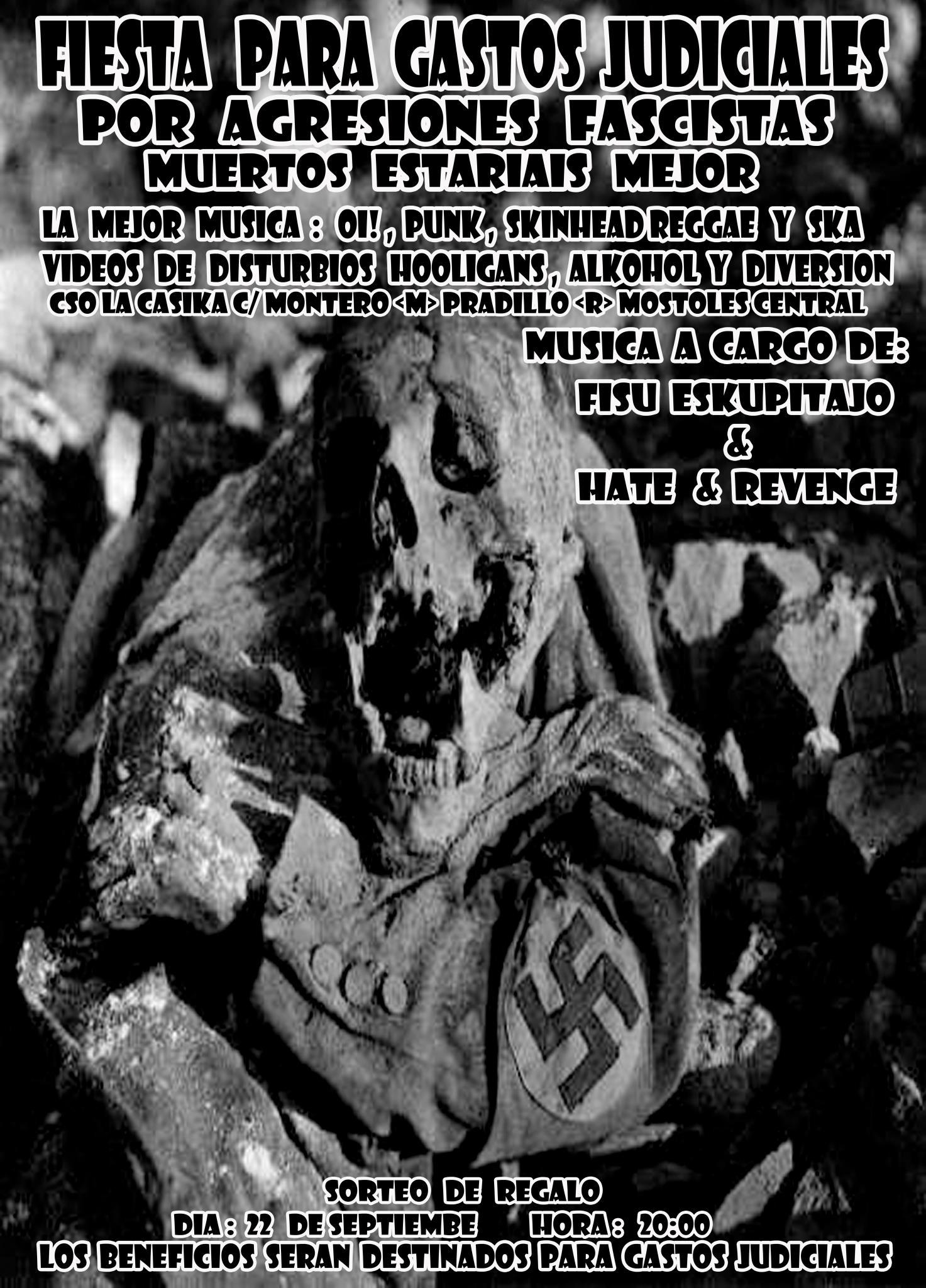 fiesta antifa hooligan 22 septiembre la casika Móstoles