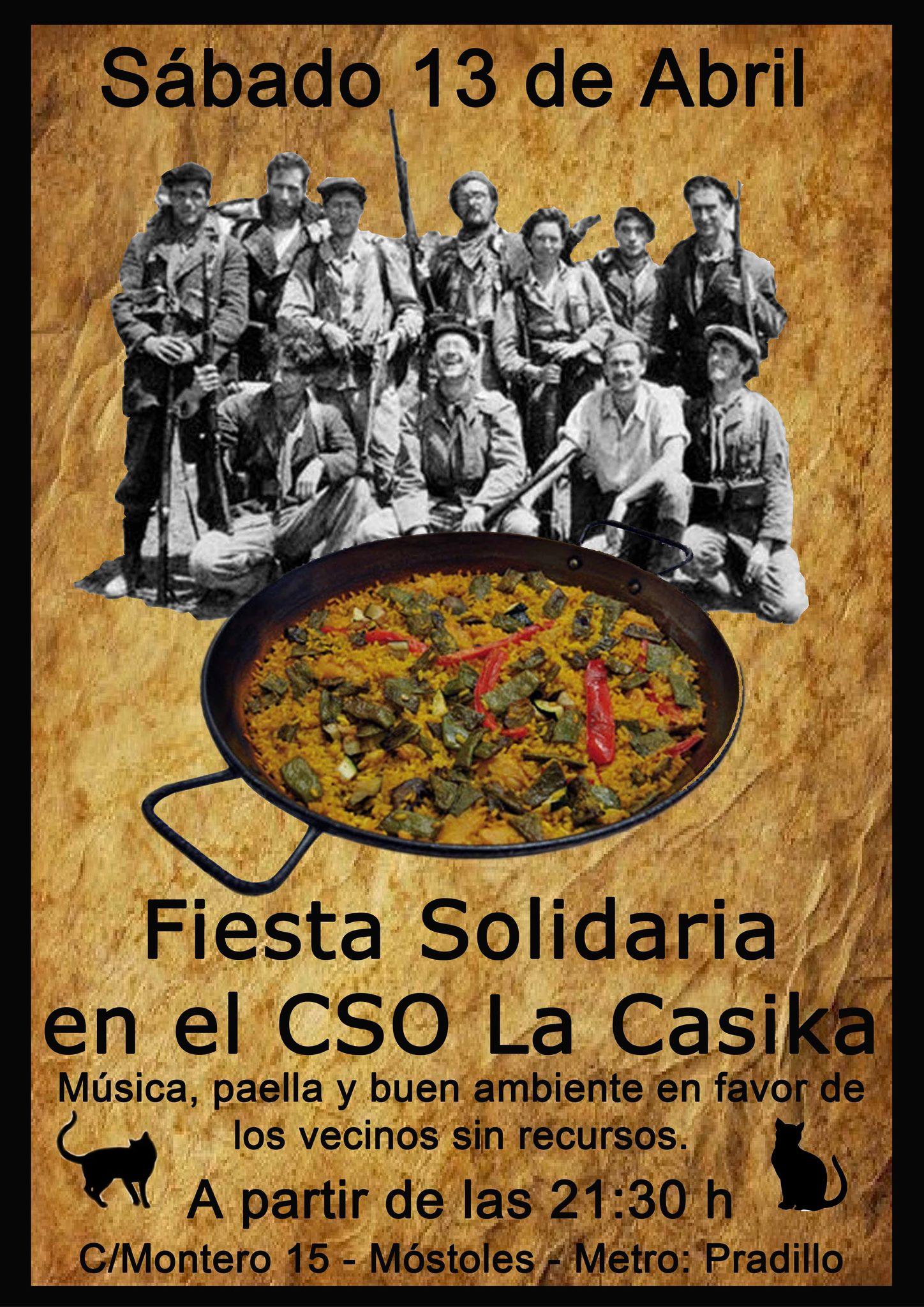 Fiesta solidaria - sabado 13 abril 2013 en la Casika Móstoles