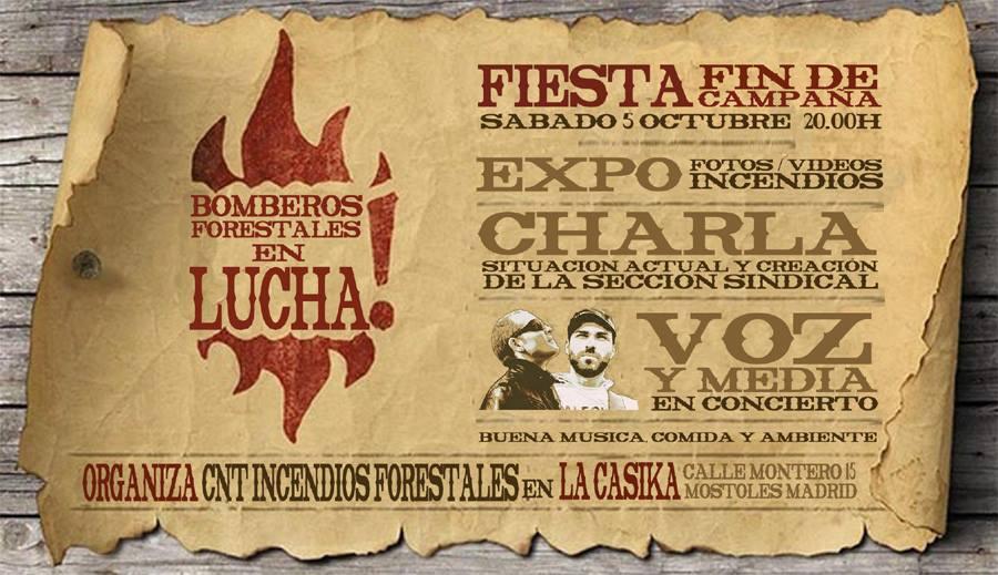 Jornada Bomberos forestales - sabado 5 octubre 2013 en laCasika Móstoles