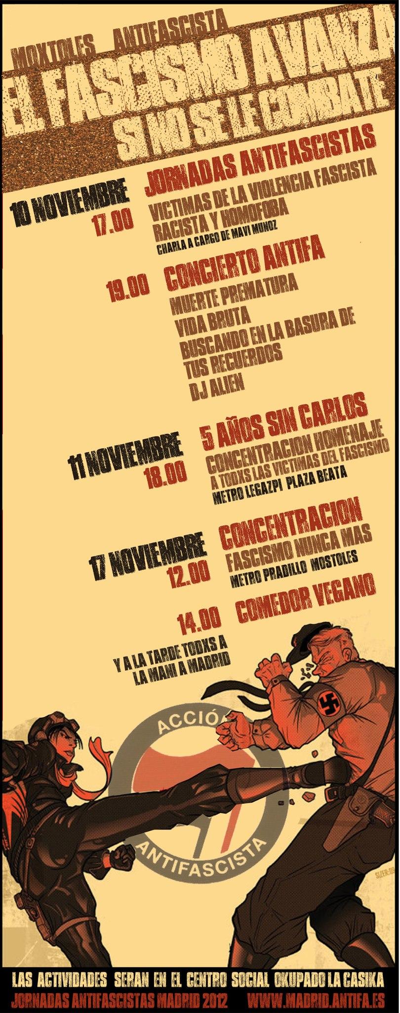jornadas antifascistas Móstoles 2012