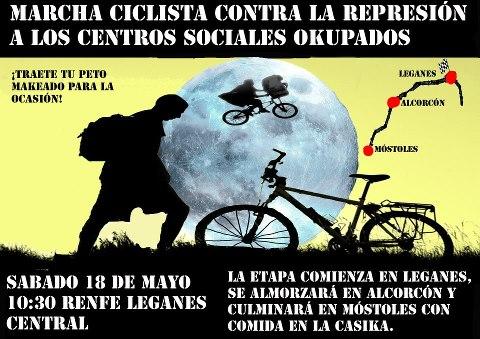 marcha ciclista por la okupacion sabado 18 mayo 10 y media renfe leganes