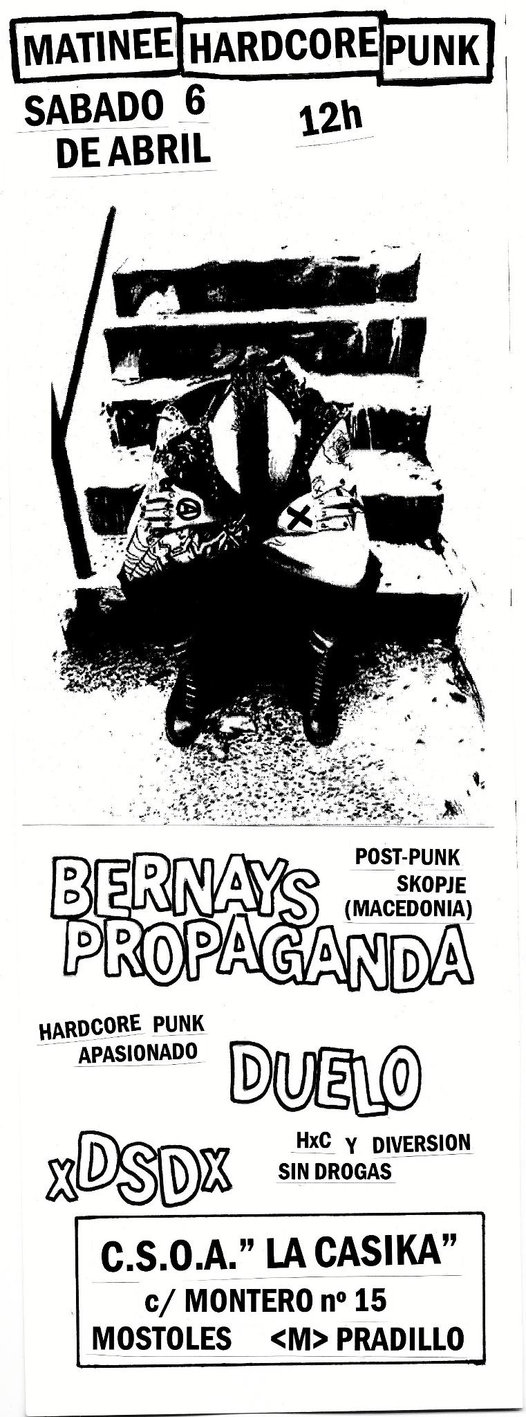 cartel Matinée Hardcore Punk - Sabado 6 abril 2013 en la Casika Móstoles